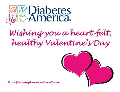 Happy Valentine's Day from DiabetesAmerica!