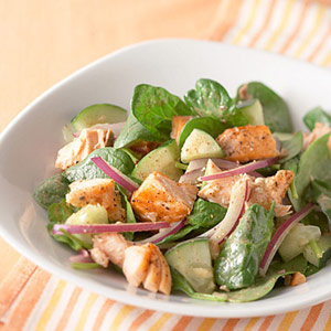 Summer Spinach and Salmon Salad
